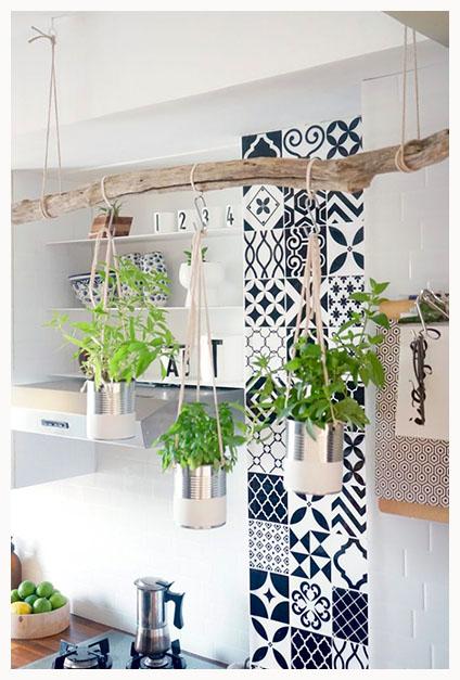 deco une cuisine v g tale pour une ambiance boh me depuis mon hamac. Black Bedroom Furniture Sets. Home Design Ideas