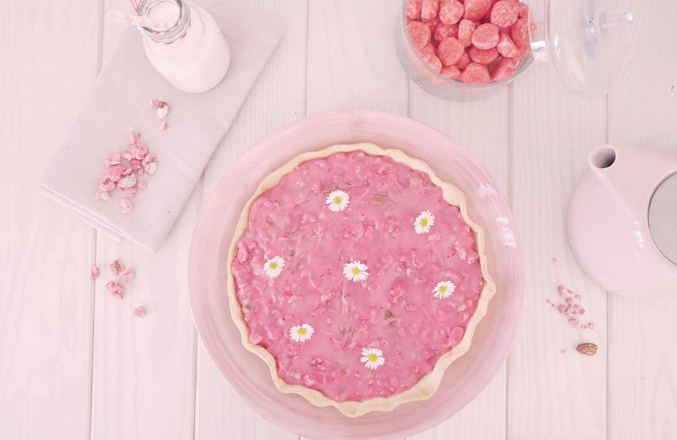 tarte aux pralines roses