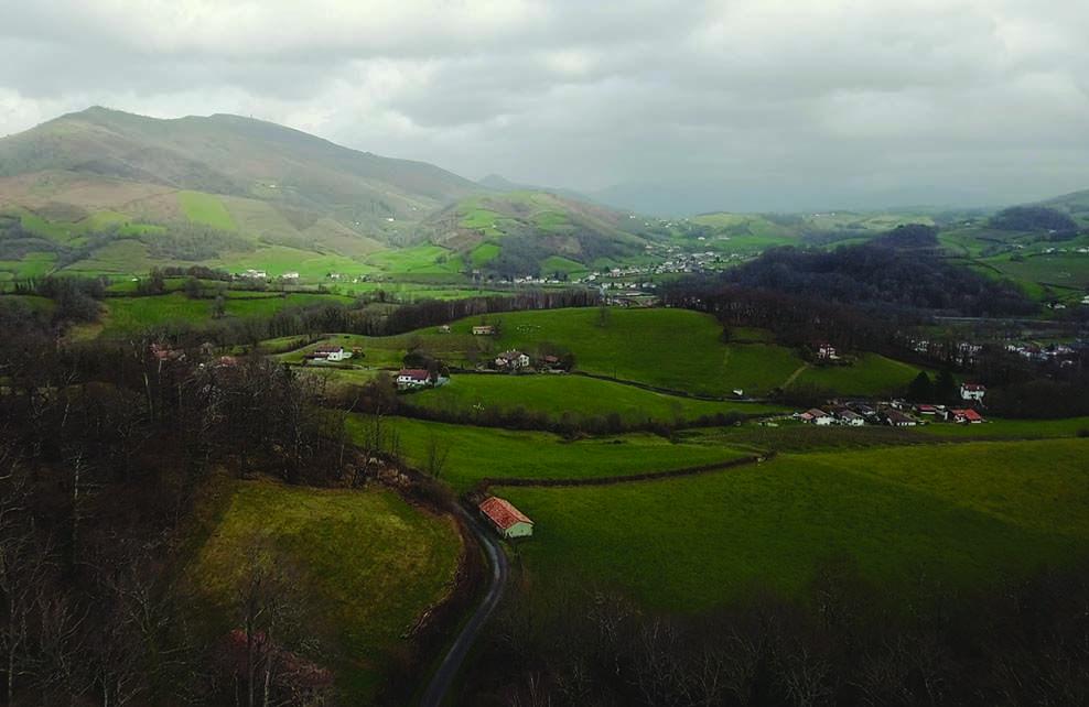 Vue sur le Pays-Basque