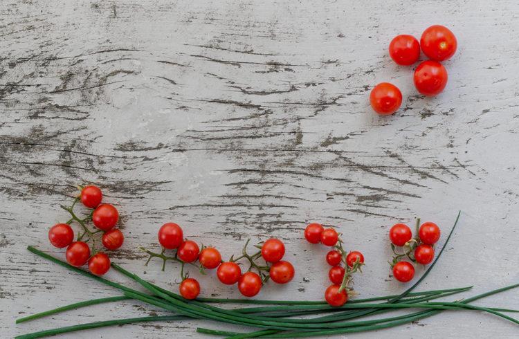 tomates cerises et haricots verts