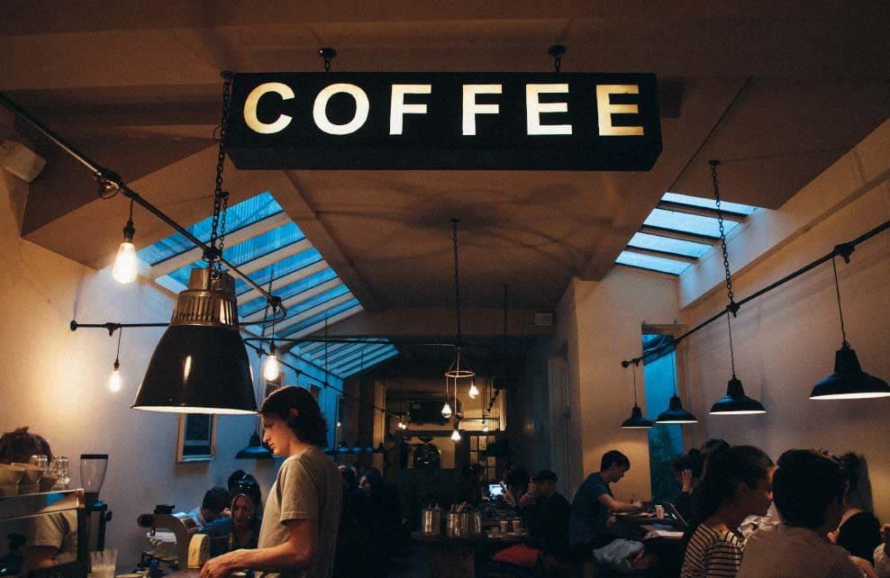 café à l'intérieur design