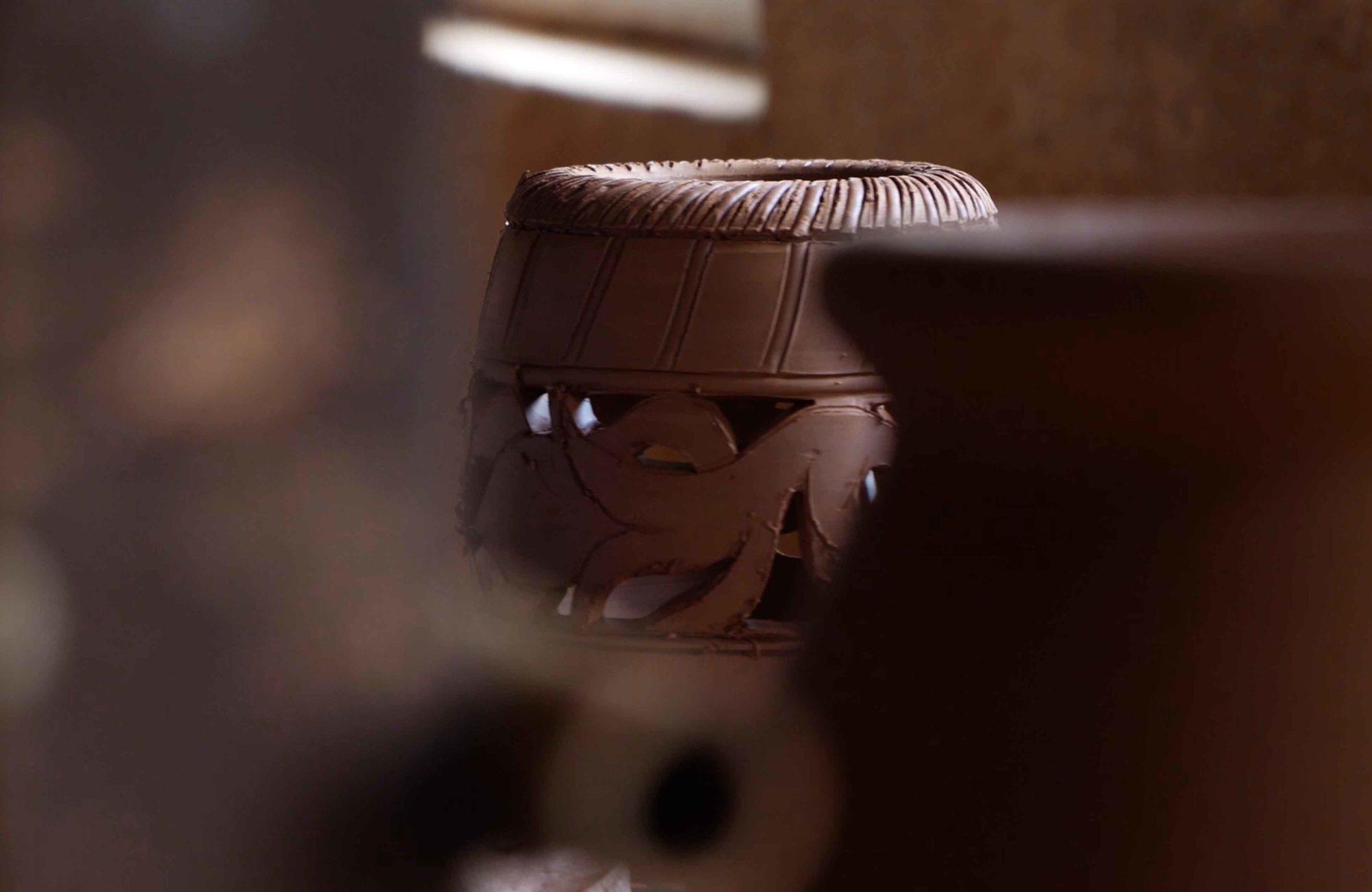 détail poterie d'Albi