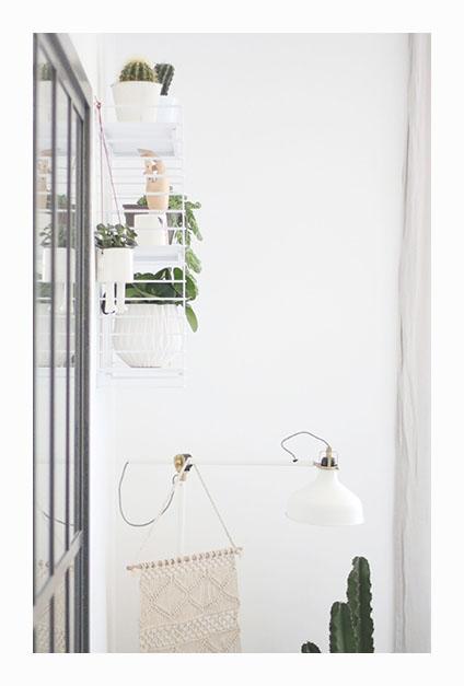 étagère végétale avec tissage