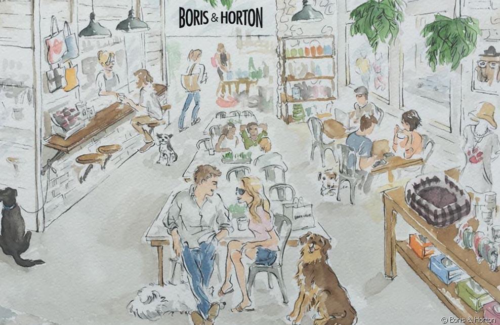 illustration du bar boris et horton