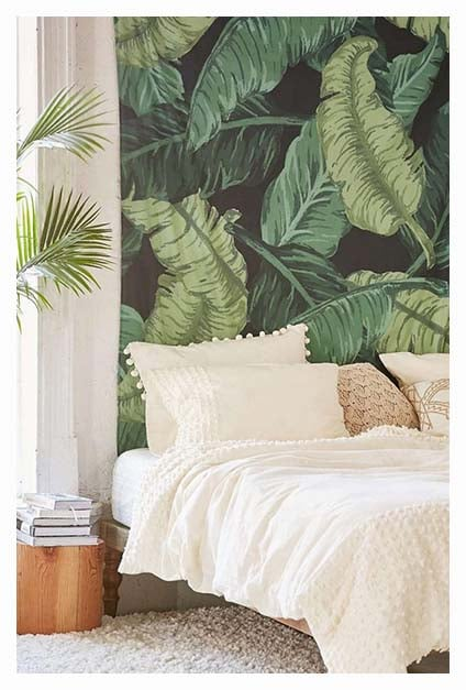 chambre bohème et tropicale