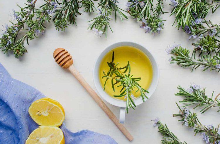 thé au romarin et citron