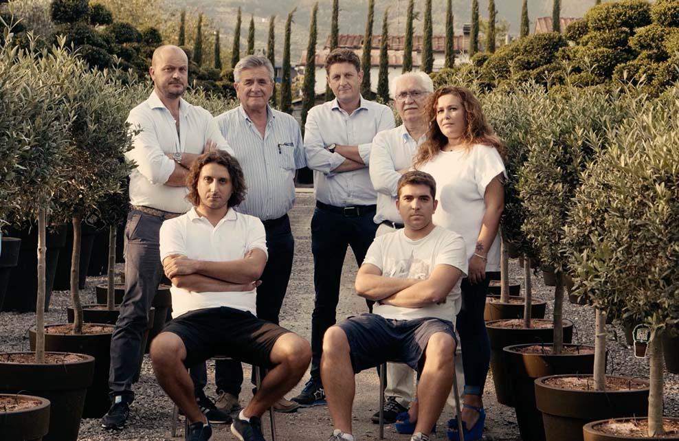 Equipe de la pépinière Innocenti e Mangoni Piante