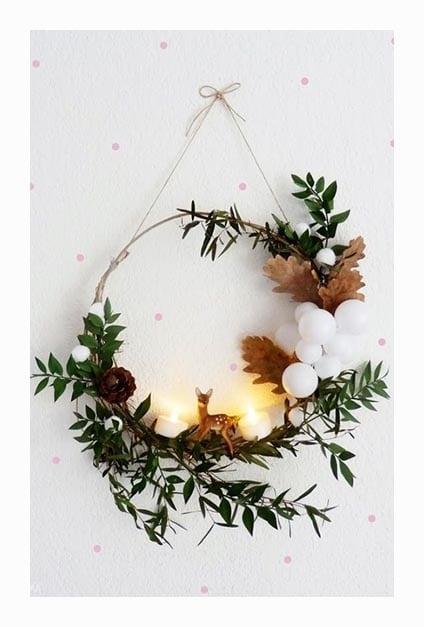 couronne minimaliste pour Noel