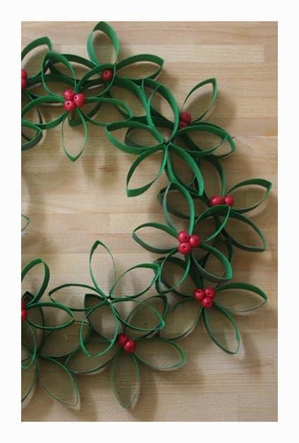 couronne de papier pour Noël