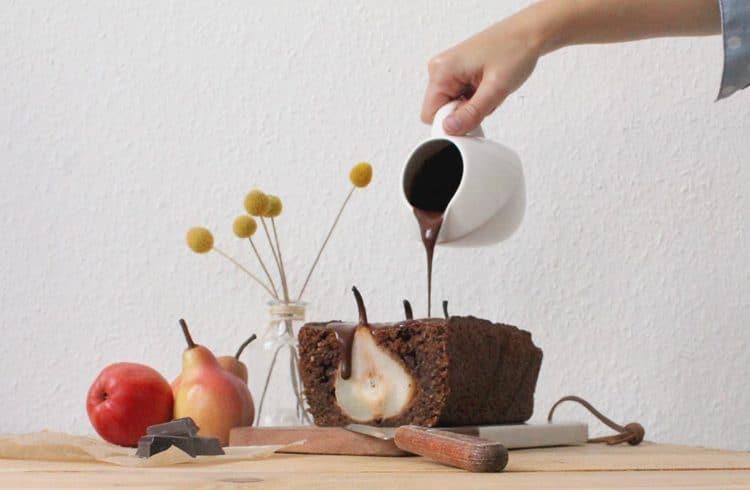 Gateau chocolat poire cuisiné par Marie du blog La Vie Lilloise