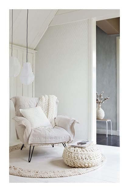 fauteuil cosy blanc