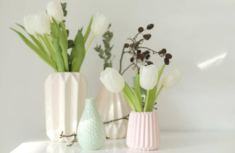 Accumulation de vases en déco