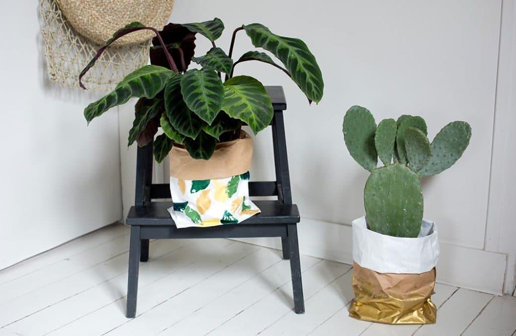 #DIY : Mon cache-pot en papier kraft