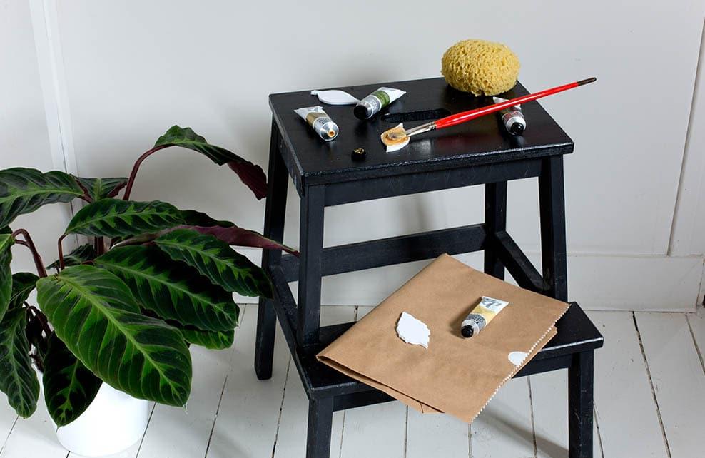 diy mon cache pot en papier kraft depuis mon hamac. Black Bedroom Furniture Sets. Home Design Ideas