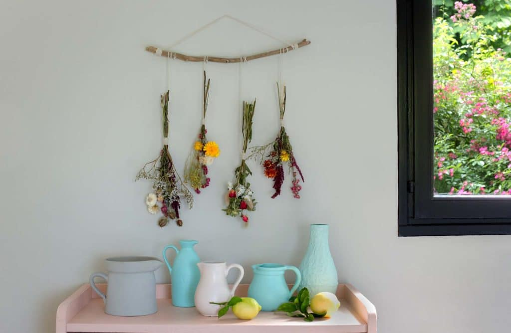 #DIY : Ma suspension de fleurs séchées
