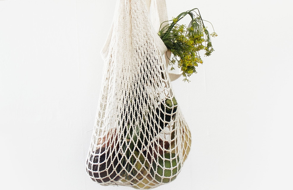 panier du marché avec légumes