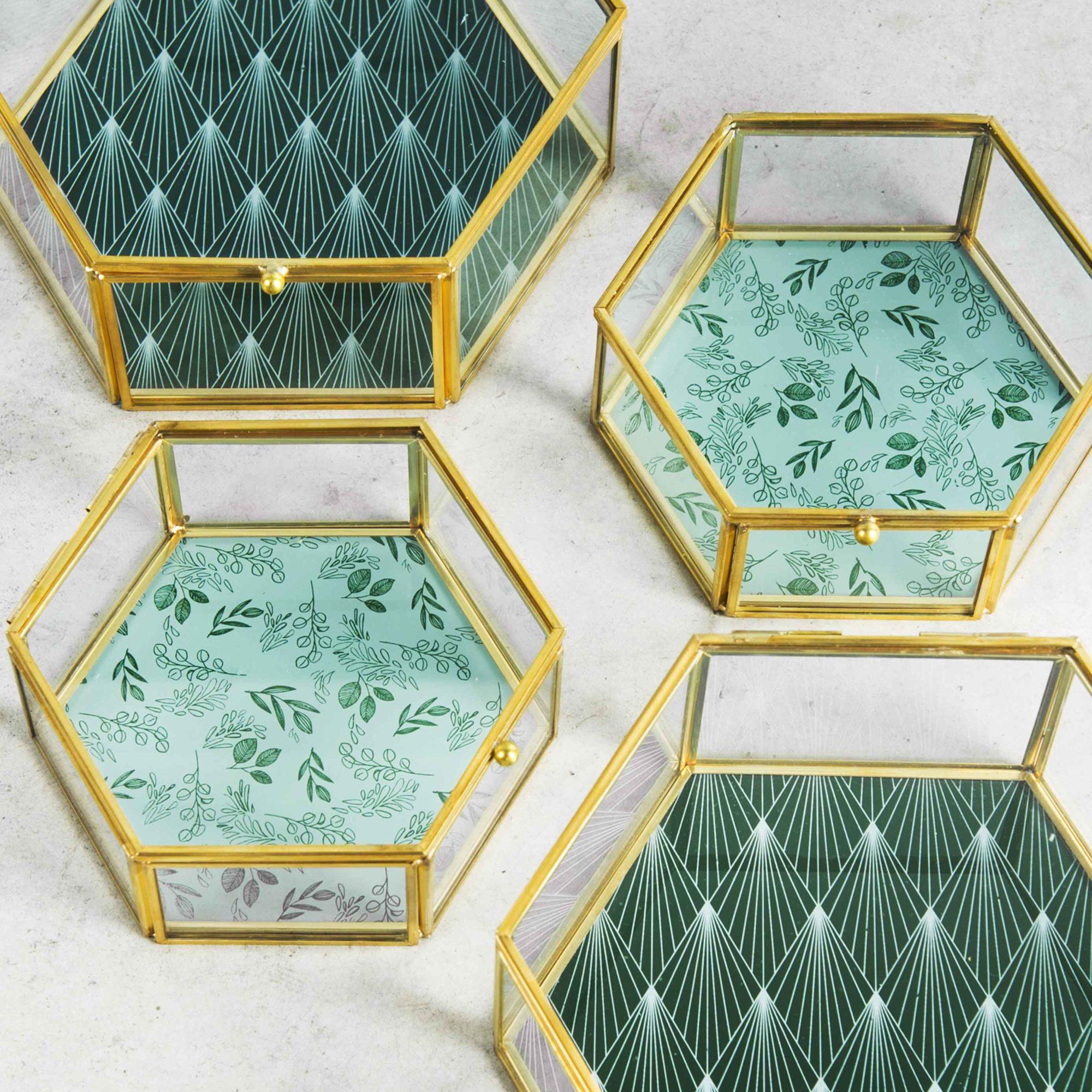Boîtes à bijoux transparentes