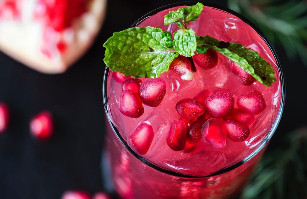 Jus de fruit rose