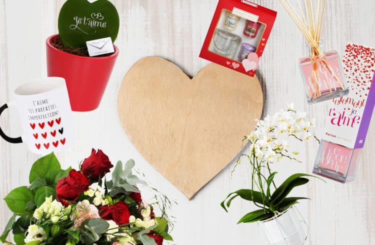 Visuel Saint Valentin avec packshots produits