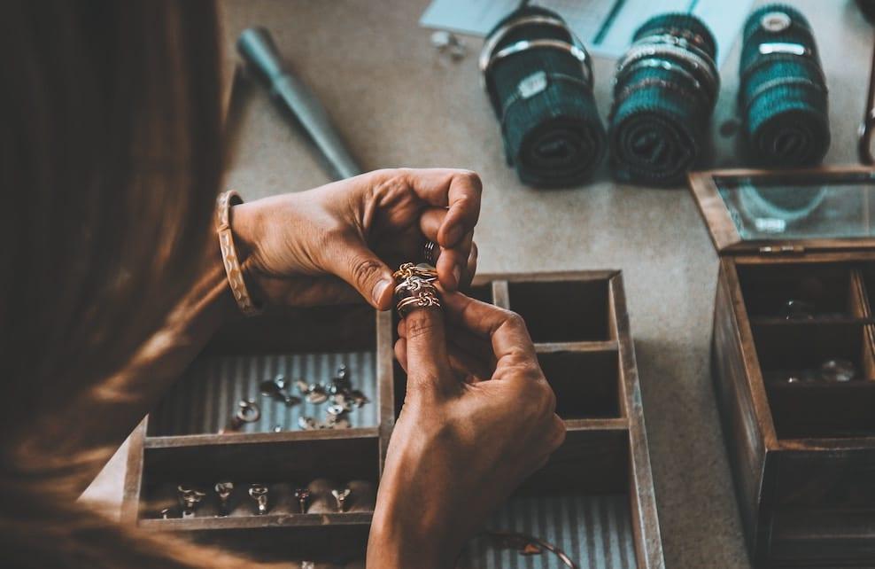 Focus sur des bijoux