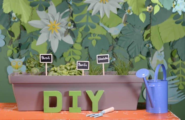 DIY jardinière d'herbes aromatiques