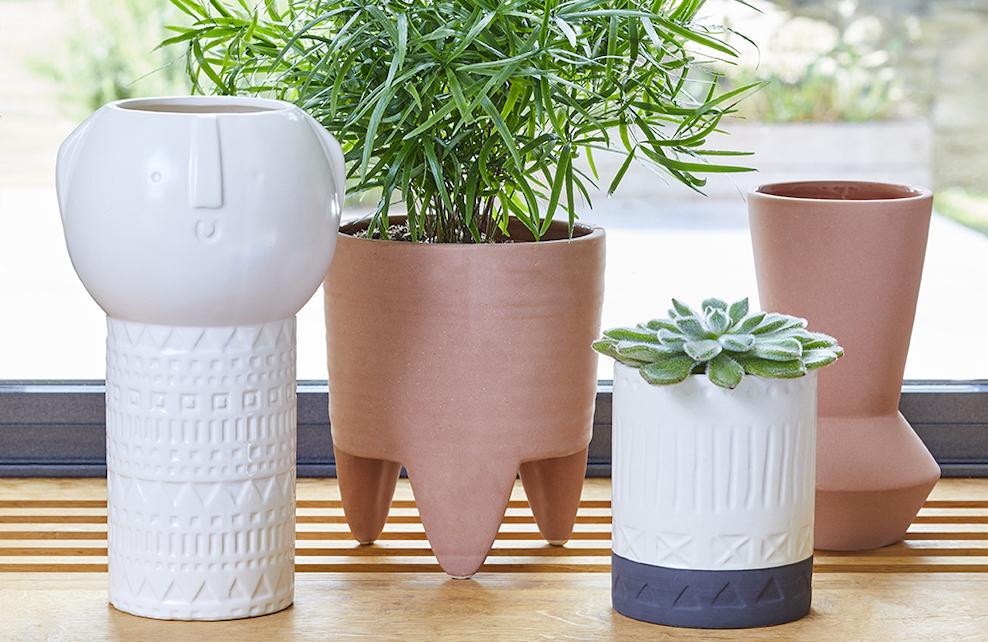 Vases dolomites, style Tiki