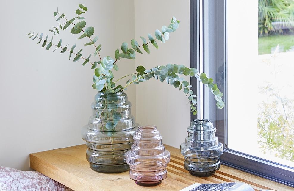 Vases à lignes rondes