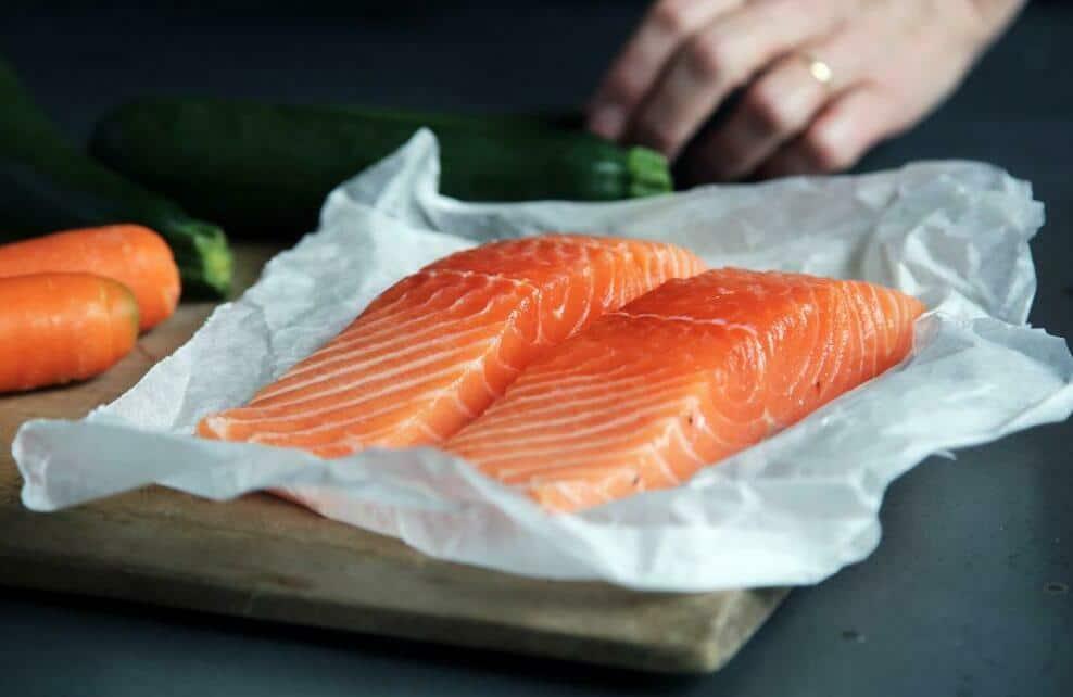 Du saumon prêt à être cuisiné