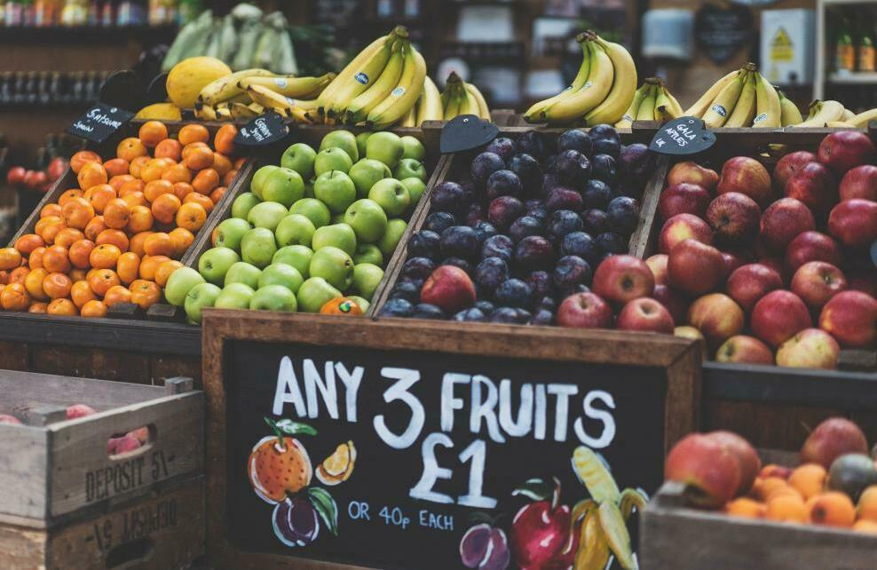 Des fruits et de légumes